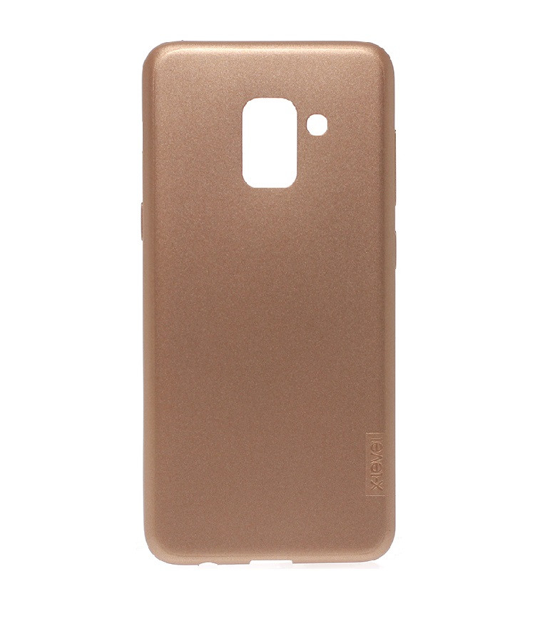 Чехол-накладка X-Level TPU Guardian для Samsung A8 2018 Gold (PC-001717)