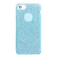 Чехол силиконовый Shine iPhone 5/5S/SE Бирюзовый (31245)