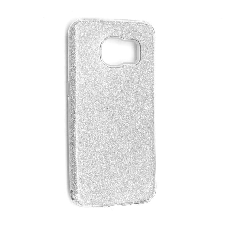 Чехол силиконовый Shine Samsung S7 Edge G935 Серебристый (31468)