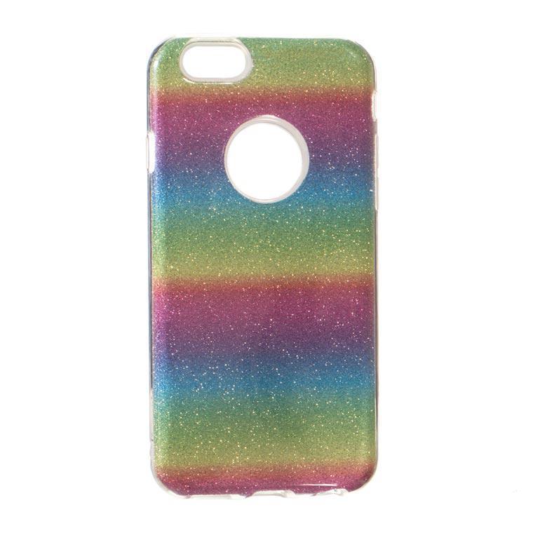 Чехол силиконовый Shine iPhone 6/6S Радужный (31432)