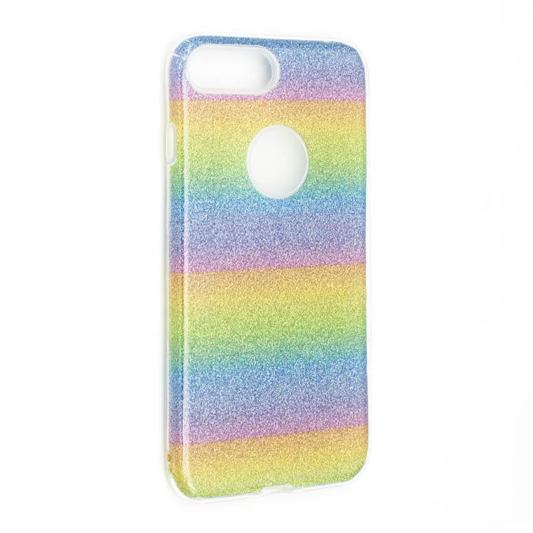 Чехол силиконовый Shine iPhone 7/8 Радужный (31418)