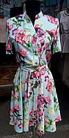 Женское  модное принтовое платье  летнее 46-48, доставка по Украине