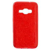 Чехол силиконовый Shine Samsung J1 2016 J120 Красный (31340)