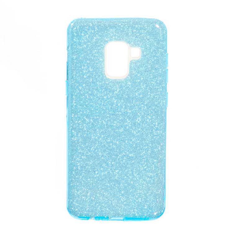 Чехол силиконовый Shine Samsung A8 2018 A530 Бирюзовый (31324)