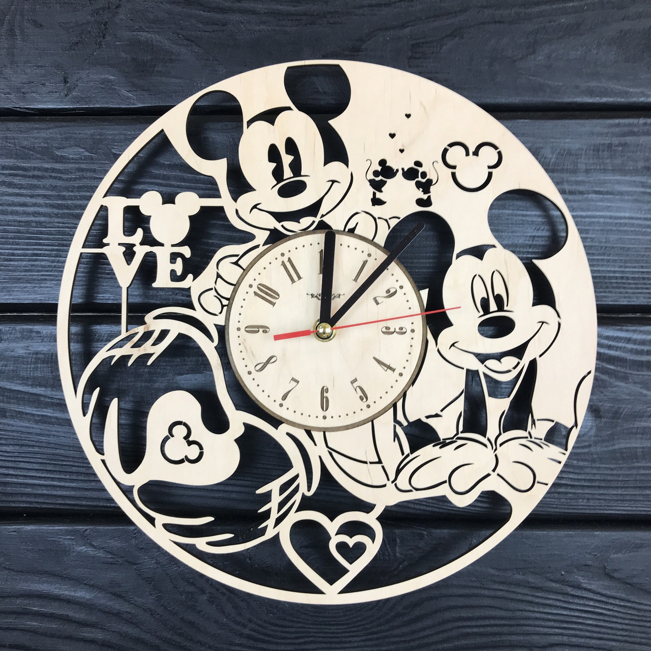 Детские часы на стену «Микки Маус»