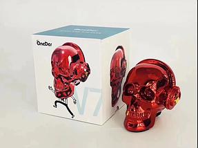Портативная Bluetooth колонка, Колонка череп OneDer, красный, фото 2