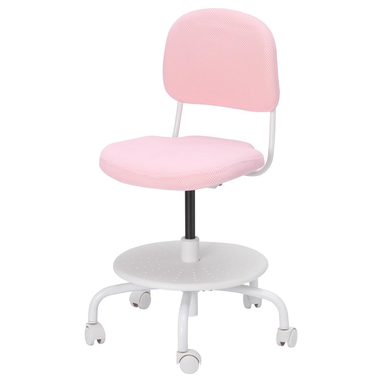 IKEA VIMUND Детский рабочий стул, светло-розовый  (104.243.53)