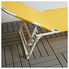 IKEA HAMO Шезлонг, желтый  (704.256.65), фото 5
