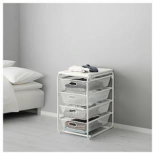 IKEA ALGOT Стеллаж с ящиками, белый  (792.761.66)