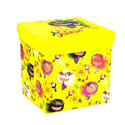 Корзинка-пуфик цветной, с рисунком