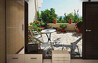 Флизелиновые Фотообои Греческая терраса от производителя за 1 день. Любая картинка и размер. ЭКО-обои