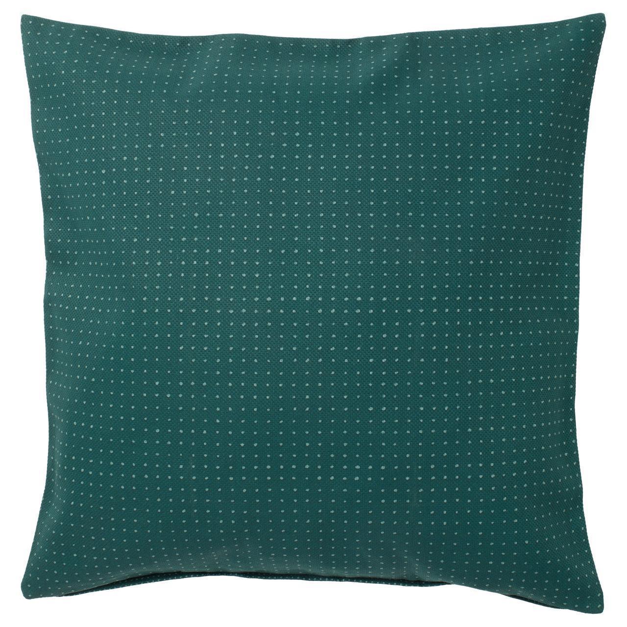 IKEA YPPERLIG Наволочка на декоративную подушку, зеленый, пунктир  (503.463.82)