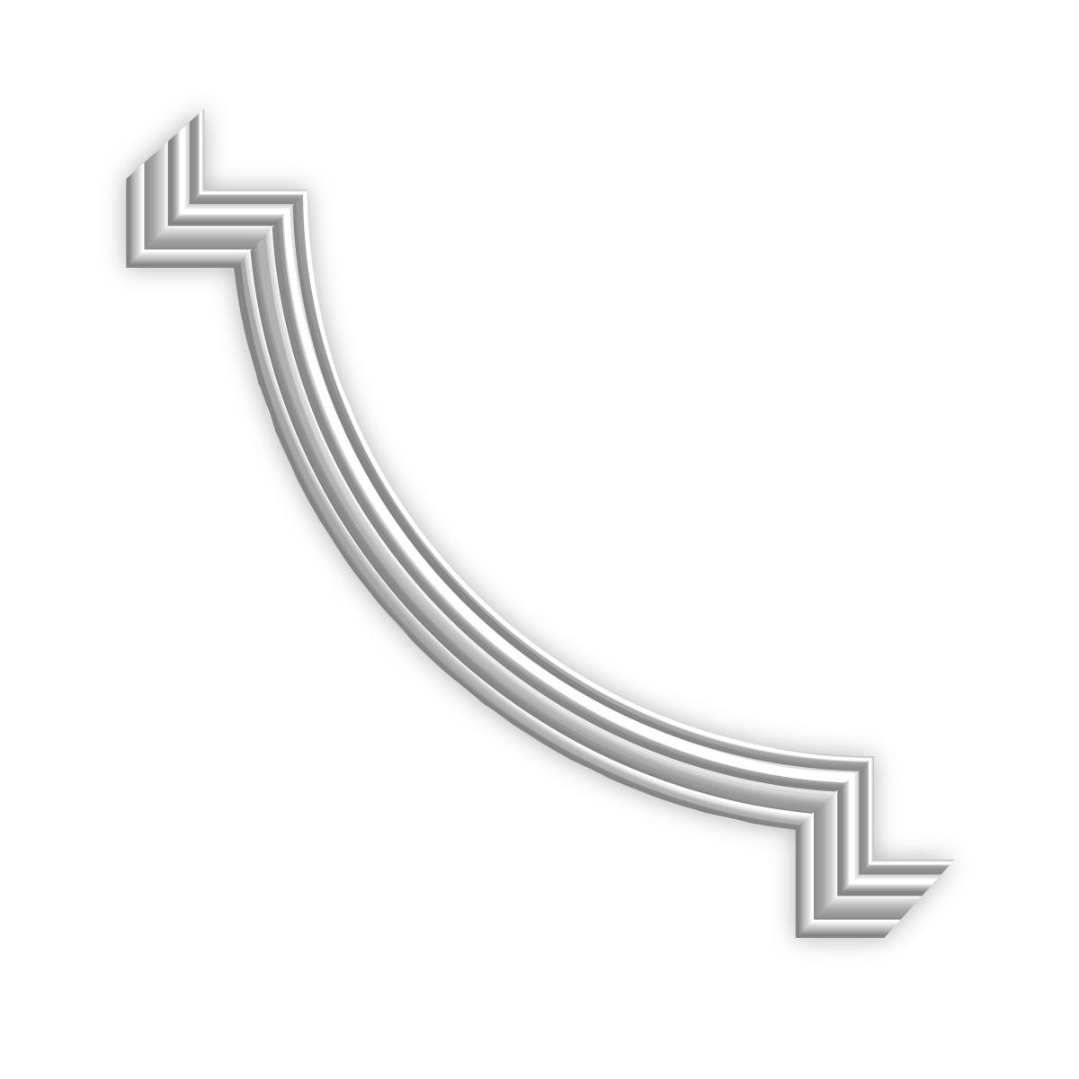 Гипсовая лепнина декоративный угол у-21 h135х135мм, фото 1