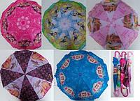Зонтик детский Принцеса 031-3 полиэстер ткань купол 80см.