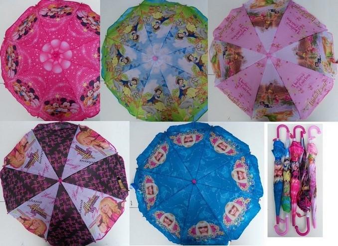 Зонт детский Принцеса 031-3 полиэстер ткань зонтик 80см.