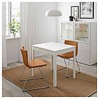 IKEA EKEDALEN/BERNHARD Стол и 2 стула, белый, Мжук золотисто-коричневый  (092.806.90), фото 2