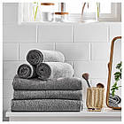 IKEA HAREN Банное полотенце, средний серый  (303.370.91), фото 4