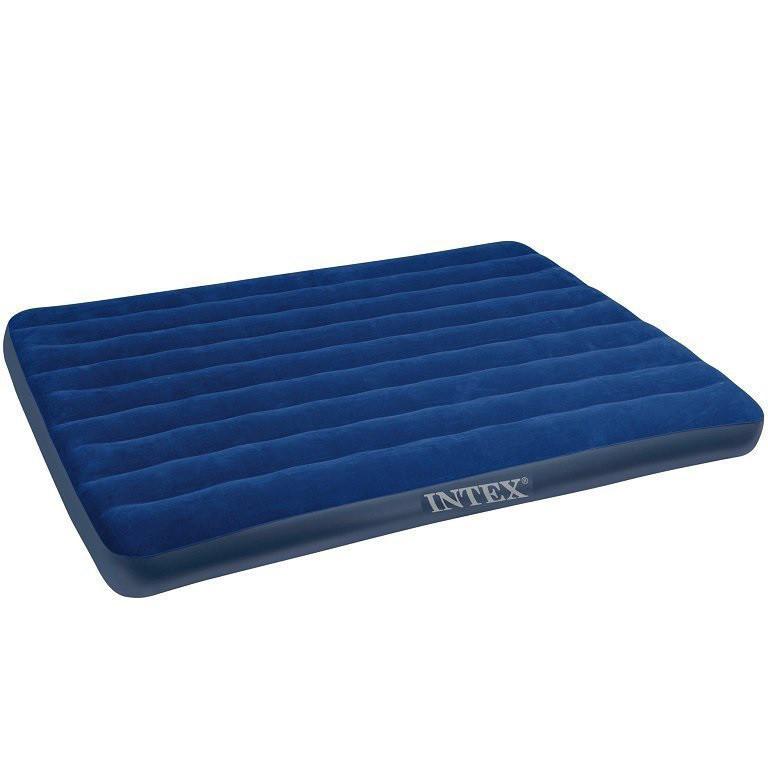 Велюровый двуспальный надувной матрас Intex 68759 (203*152*22 см)