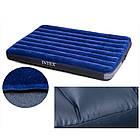 Велюровый двуспальный надувной матрас Intex 68759 (203*152*22 см), фото 6