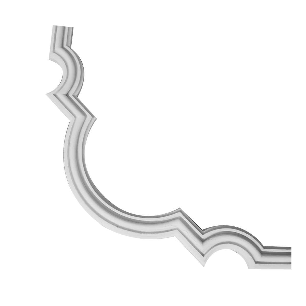 Гипсовая лепнина декоративный угол у-26 h240х240мм, фото 1