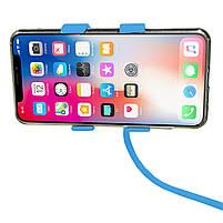 ➛Гибкий держатель Lesko 360 Blue для смартфона прикроватный вращающийся на гибкой ножке универсальный, фото 6