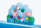 Надувной игровой центр Intex «Приключения джунглей» 57161 (257*216*84 см) с горкой,надувные пальмы, фламинго, фото 3