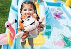 Надувной игровой центр Intex «Приключения джунглей» 57161 (257*216*84 см) с горкой,надувные пальмы, фламинго, фото 4