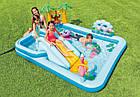 Надувной игровой центр Intex «Приключения джунглей» 57161 (257*216*84 см) с горкой,надувные пальмы, фламинго, фото 6