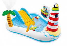 Надувной игровой центр Intex «Веселая Рыбалка» 57162 (218*188*99 см) с надувной удочкой, 2 рыбы