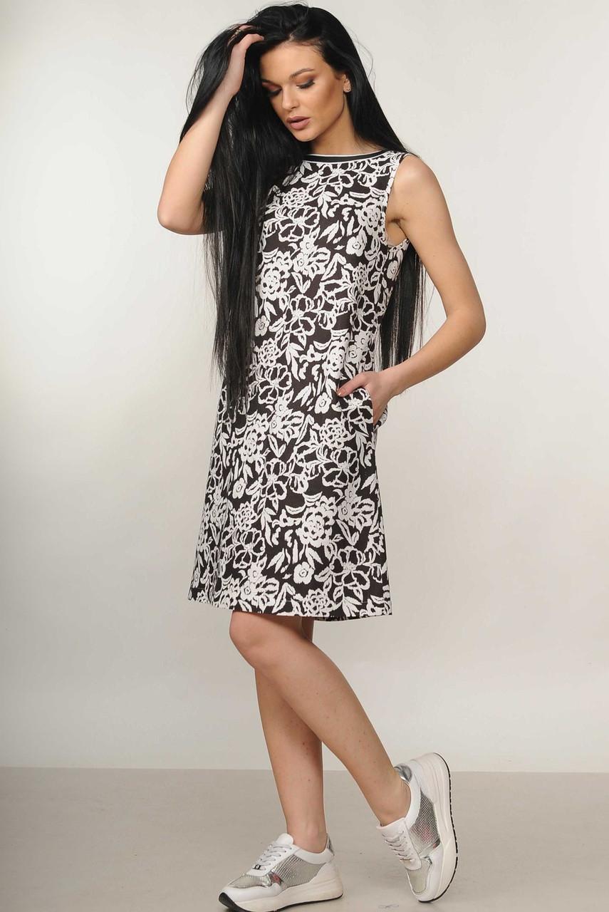 Летнее льняное платье  42 по 52 размер