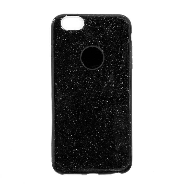 Чехол силиконовый Shine iPhone 6/6S Черный (31250)