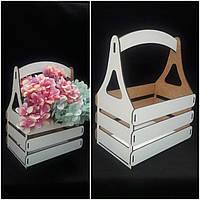 Стильный ящик ящик для декора, материал - двп, толщ. 4 мм., р-ры 28х14х12 см., 85/75 (цена за 1 шт. + 10 гр.)