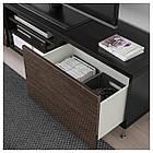 IKEA BESTA Тумба под телевизор с ящиками, черно-коричневый, Сельсвикен/Сталларп (692.675.77), фото 3