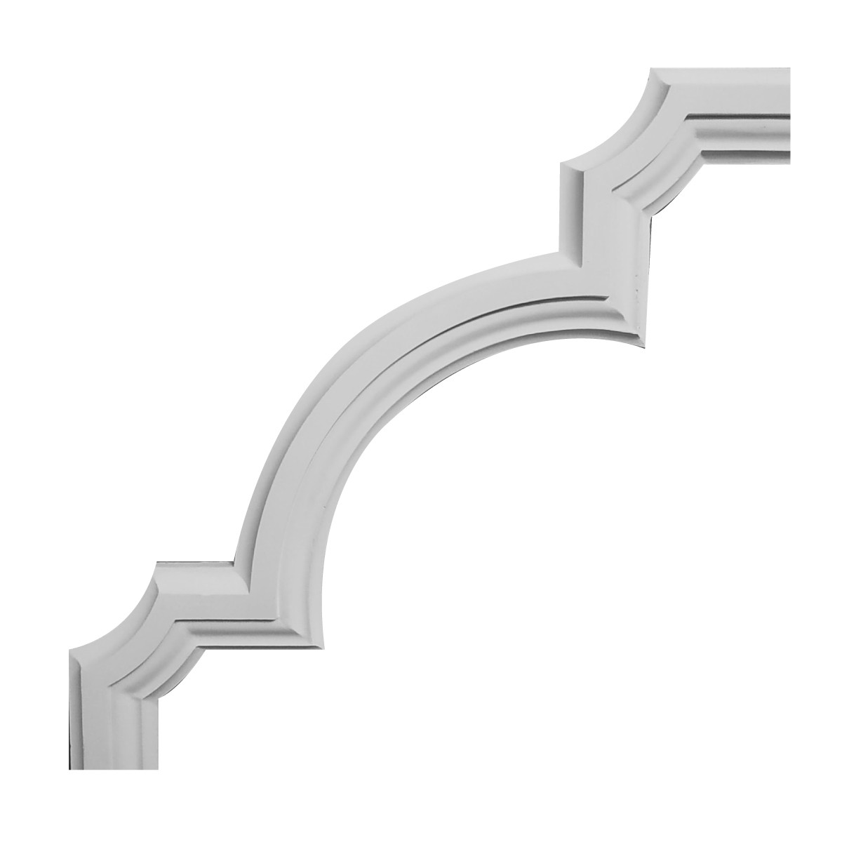 Гипсовая лепнина декоративный угол у-29 h290х290мм, фото 1