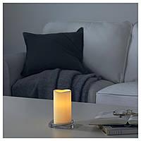 IKEA GODAFTON Светодиодная свеча, на батарейках, природные  (603.555.78)