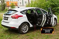 Накладки на внутренние пороги дверей Ford Focus III 2014- (рестайлинг), фото 1