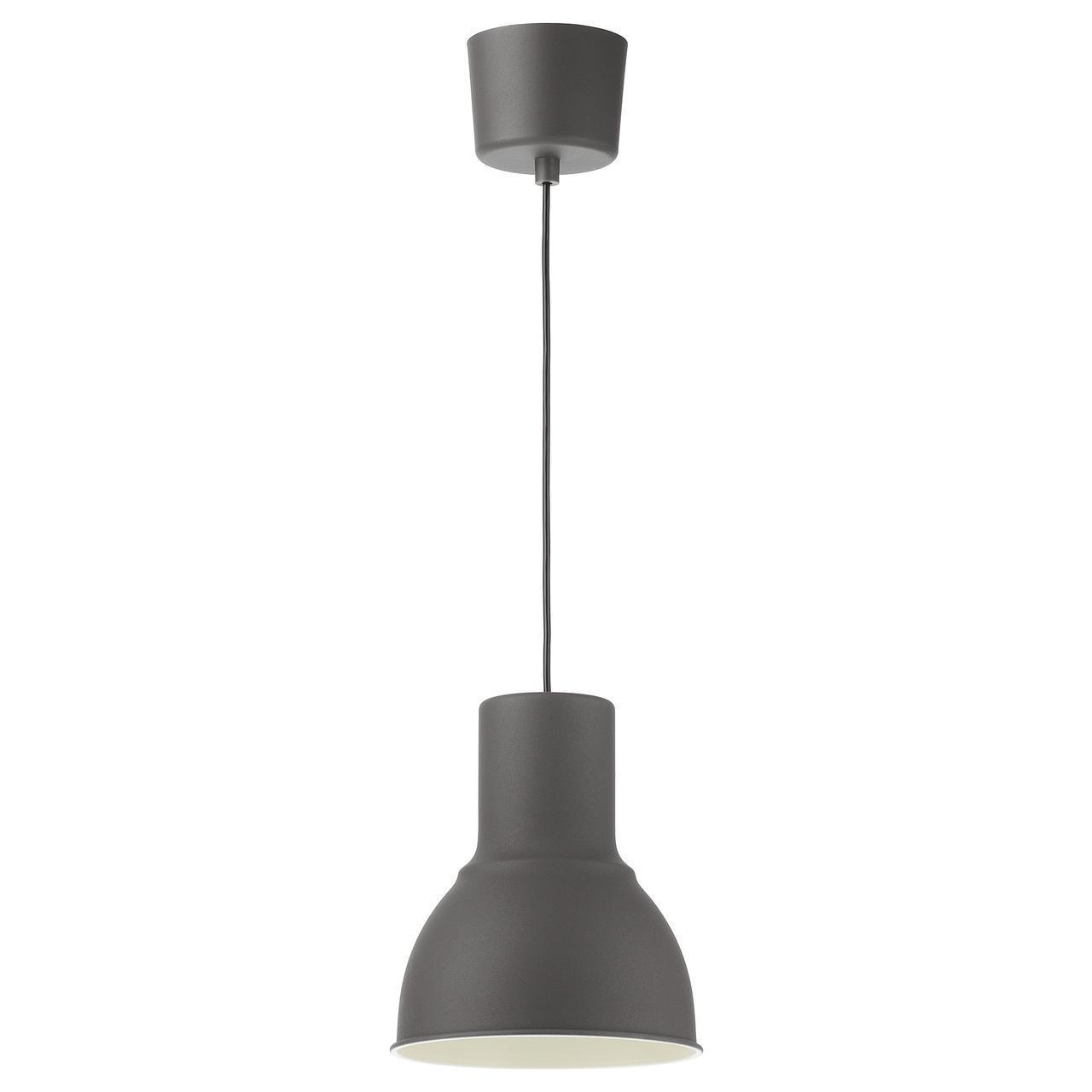 IKEA HEKTAR Подвесной светильник, темно-серый  (803.903.59)