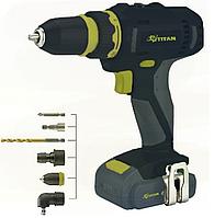 Аккумуляторный шуруповерт Титан PDS121DS set