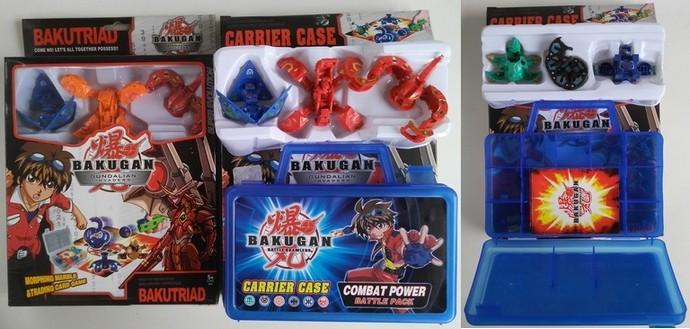 Бакуган 9065 3-шт. с карточками с кейсом