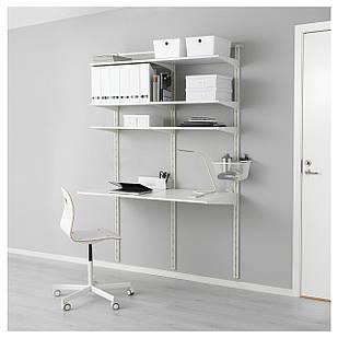 IKEA ALGOT Стеллаж с полками, белый  (592.765.96)
