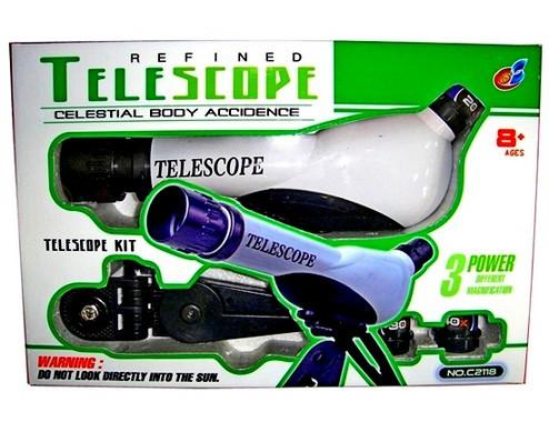 Телескоп детский 2118 линзы увеличение 20х, 30х, 40х,