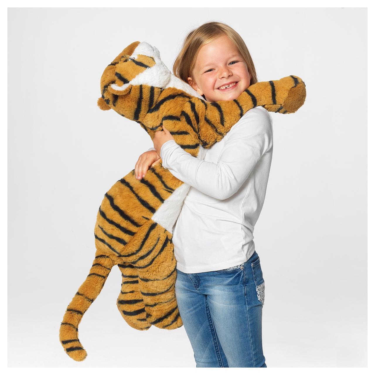 IKEA DJUNGELSKOG Мягкая игрушка, Тигр  (704.085.81)
