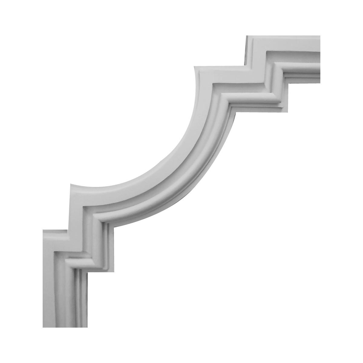 Декоративний кут з гіпсу, гіпсовий кут у-30 һ270х270мм