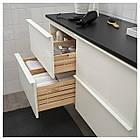 IKEA GODMORGON/TOLKEN Шкаф под умывальник со столешницей, глянцевый белый, антрацит  (692.956.03), фото 3
