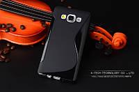 TPU чехол для Samsung Galaxy A3 A300 чорний, фото 1