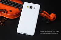 TPU чехол для Samsung Galaxy A3 A300 белый, фото 1