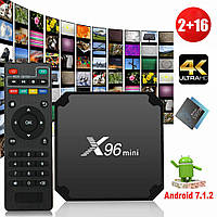 X96 mini Smart TV, android TV box, IPTV, android 7 TB приставка + smart пульт. 8 ядер, 1/16 Gb + подарок, фото 1