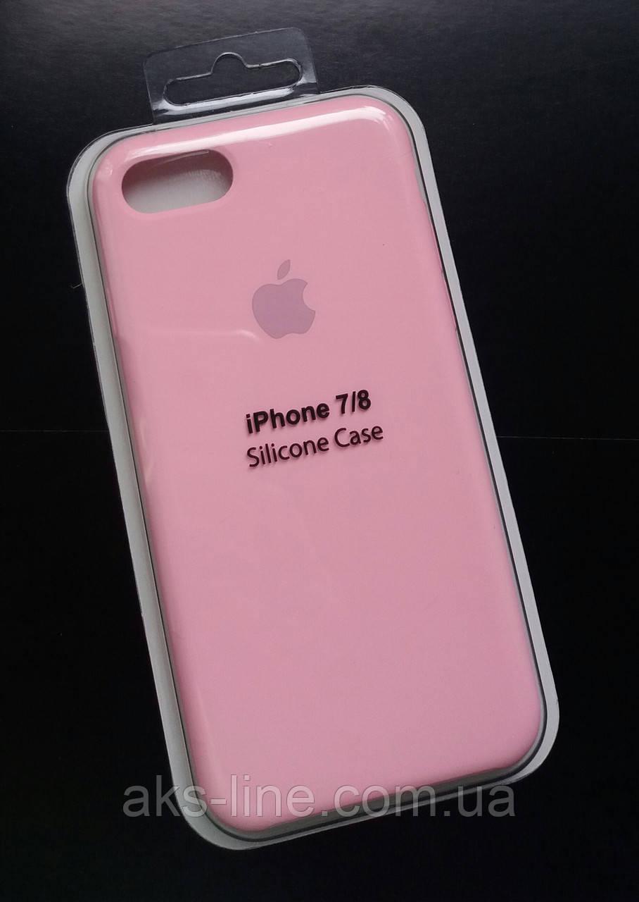Силиконовый чехол Apple Silicone Case IPHONE 7/8 (Pink), фото 1