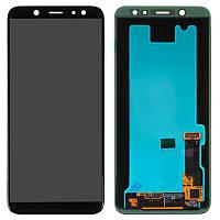 Дисплей (LCD) Samsung A600 Galaxy A6 (2018) TFT с тачскрином черный (подсветка Оригинал)
