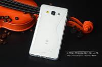 TPU чехол для Samsung Galaxy A3 A300 прозрачный, фото 1